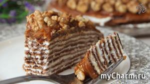 Нежнейший Блинный Торт с Творожным Кремом на Масленицу!