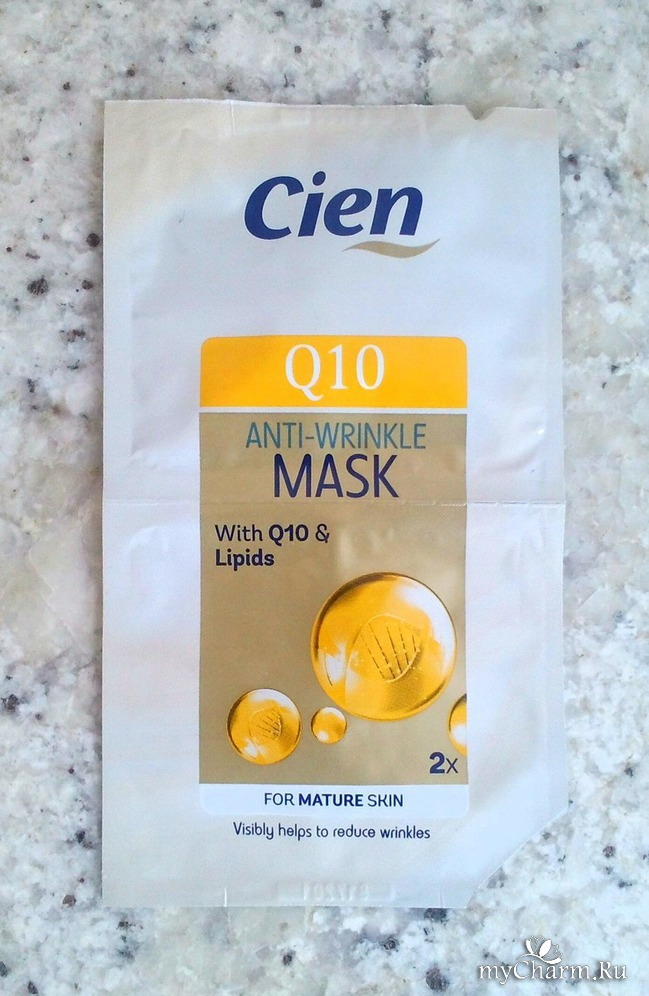 Моя косметическая находка -- маска для лица Cien Q 10 Anti- wrinkle Mask.