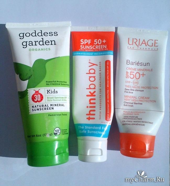 Мои косметические находки-- солнцезащитные кремы для детей.