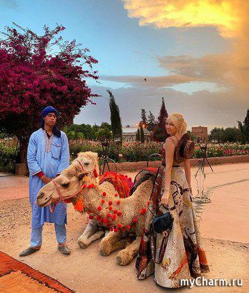 Яна Рудковская устроила в Марокко фотосессию с «модными» верблюдами