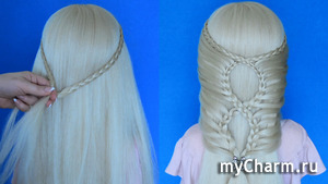 Прическа с плетением кос! Красивая прическа пошагово!
