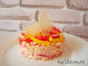 Праздничный салат «Коралловый риф»