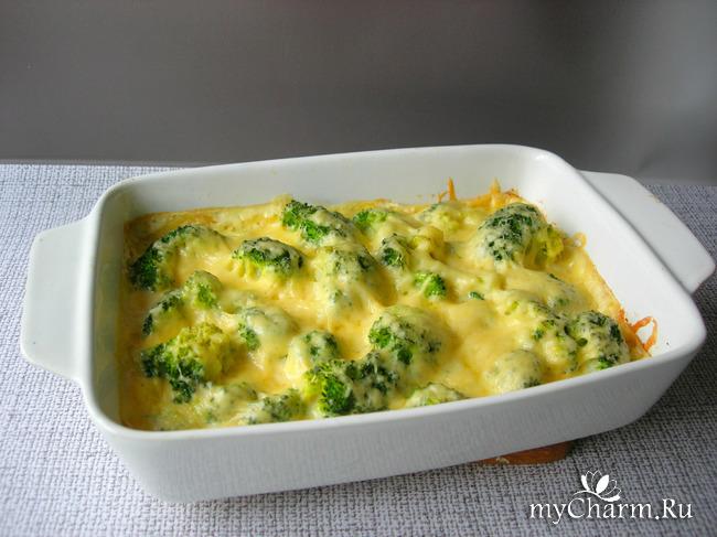 Запеканка с брокколи, все просто и полезно из привычных продуктов