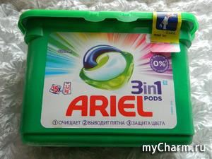 Как работают капсулы Ariel PODS 3 в 1? Делюсь своим опытом.
