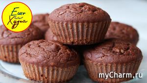 Сидим дома и печем полезные вкусняшки! Быстрые шоколадно-банановые кексы.