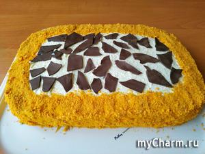 Торт «Сахара» с творожным кремом!