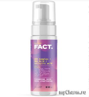FACT / Очищающая увлажняющая пенка для умывания лица с комплексом AHA-кислот и с салициловой (BHA-) кислотой
