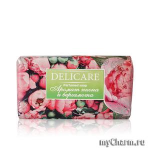 Delicare / Туалетное мыло Parfumed soap Аромат пиона и бергамота