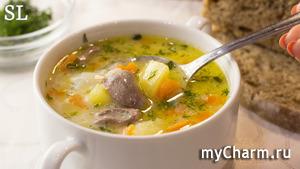 Бесподобный Сырный Суп с Куриными Сердечками! Нравится всем без исключения