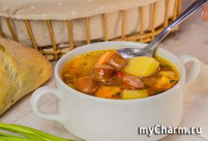 """Суп """"Охотник"""". Очень вкусный и простой в приготовлении супчик"""