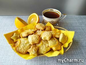 Апельсиновое печенье, всегда готовлю его на сладкий стол детям
