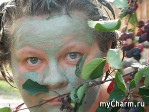 Селфи в маске (забег 5). Танистая. Зелёненький я был.)))