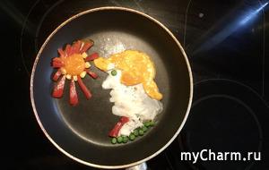 Картины из глазуньи или неделя яичной диеты.