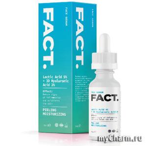FACT / Сыворотка пилинг для лица с молочной кислотой, низкомолекулярной гиалуроновой кислотой, кросс-полимером гиалуроновой кислоты и экстрактом гибискуса
