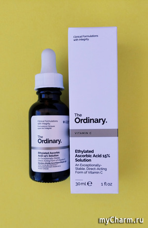 Витамин С в уходе за кожей.The Ordinary Ethylated ascorbic acid 15%.
