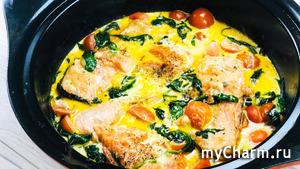 Ужин как в ресторане! Красная рыба в сливочно-чесночном соусе