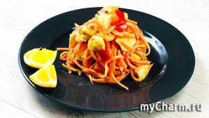 Салат из корейской морковки и курицы - просто вкуснятина!