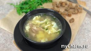 Чесночный суп с сухариками