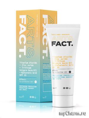 FACT / Ежедневный увлажняющий солнцезащитный крем для лица и тела, SPF 35