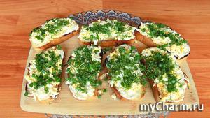 Праздничные остренькие бутерброды с яйцами