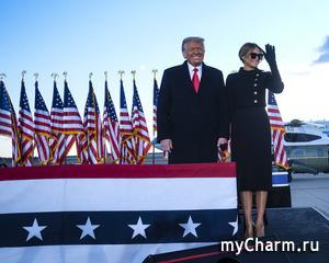 Дональд Трамп с супругой покинули Белый дом