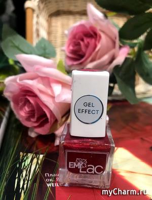 E. MiLac Gel Effect - 075 лак ультрастойкий для ногтей, Блеск для губ / Gel Effect 9 мл